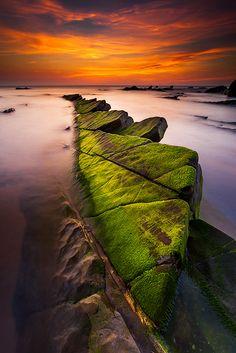 Playa de Barrika, Bizkaia. Rechuela, Basque Country, Spain
