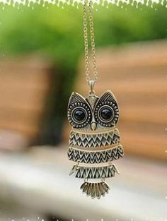 owl  necklaceantique brass by sweethearteverybody on Etsy