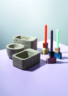 CONCRETE TUPPERWARE CONTAINERS by Philippe Malouin and Tupperware