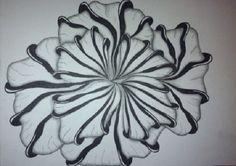 Aquafleur Flower - Zentangle by Cyndi Cesare http://ceeceeart.blogspot.com
