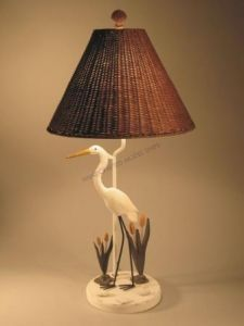 Crane Electric Lamp from Handcrafted Nautical Decor - In stock and ready to ship Coastal Homes, Coastal Living, Coastal Decor, Nautical Kitchen, Tripod Table Lamp, House Inside, Tropical Style, Lodge Decor, Florida Home