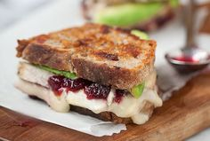 Yum Recipe: Thanksgiving Leftover Grilled Brie, Turkey, Cranberry and Avocado Sandwich - So Haute