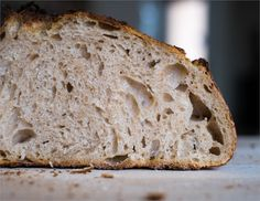 The result of a test bake with our newly created sourdough starter