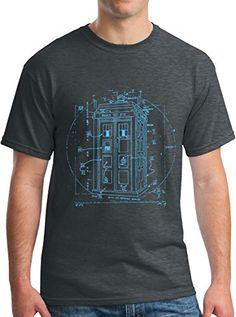 81c44436cc8 Vitruvian Police Box Shirt Leonardo Da Vinci T-Shirt DH M... https