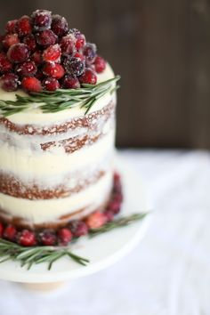 Spice up Christmas this year with some delicious cranberry cake with white chocolate buttercream.