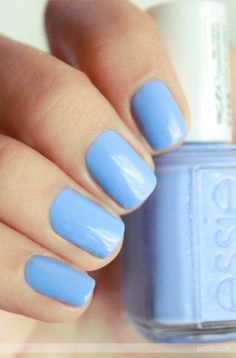 """Love this color!♡""    This pale blue has been a really popular color for awhile now. Chanel had one, Sephora by OPI Havana Dreams, Betsey Johnson had one, NARS just came out with one..."