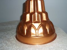 Copper mold Large 8 x 9 Mid century mold by SocialmarysTreasures