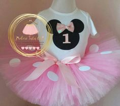 Minnie mouse birthday outfit minnie mouse by JAdoreTuTuChic