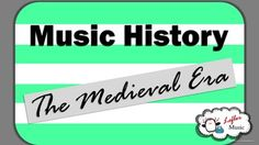 This lesson on the earliest era of music will help you teach your late elementary/early middle school students about the Medieval Era. Students will learn about 7 instruments, 5 composers, and basic vocabulary/concepts needed to understand music history...