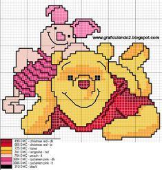 Cross Stitch Fairy, Cross Stitch Charts, Cross Stitch Designs, Cross Stitch Patterns, Afghan Crochet Patterns, Quilt Patterns, Cross Stitching, Cross Stitch Embroidery, Pooh Bear