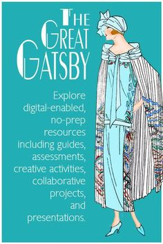 THE GREAT GATSBY IS A STUDENT FAVORITE! Explore activities to enhance your instruction and spark the interest of your students. Find reading and discussion questions for each chapter, creative characterization activities, analytical tasks, assessments including objective tests and essay prompts, presentations, and introductory and culminating activities. All pdfs are digital-enabled to use in the classroom or online. No prep for busy teachers. Engaging and comprehensive unit or individual F Scott Fitzgerald, Essay Prompts, The Great Gatsby, Creative Activities, Assessment, Presentation, Classroom, The Unit, Teaching