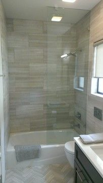 ... Kids Bath Shower Option Bathroom   X Valentino Gray Marble Walls /  Floor Transitional Bathroom   But Reverse   Large Tile On Floor And Small  In Shower Part 48