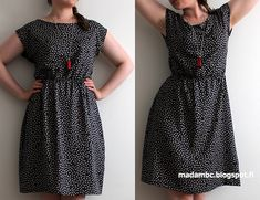 Madam B. Sewing Clothes, Diy Clothes, Dress Sewing Patterns, Refashion, Dress Skirt, Short Sleeve Dresses, Couture, Outfits, Projects