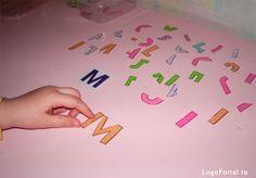 конструирование букв из элементов