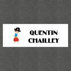 """16 Etiquettes scolaires personnalisées Thème """"Pirate Garçon"""" : Stickers par creerpourvous"""