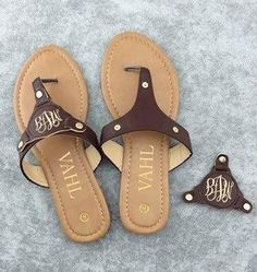 Blank Monogramming Sandals - Ready to ship