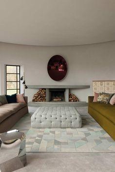 pale geometric floor rug