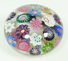 Clichy spaced Millefiori art glass paperweight.