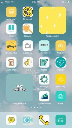 Home Screen aesthetic | Iphone app layout, Iphone wallpaper ios, Ios app iphone