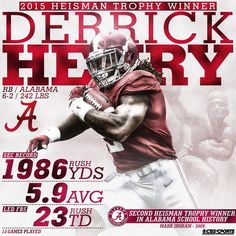 Time for a Championship! Congrats to Derrick Henry & Bama !!!