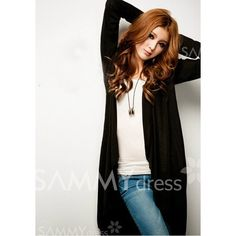 $9.68 Fashionable V-Neck Buttonless Long Sleeve Cotton Blend Long Coat For Women