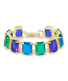 Loving this Blue & Green Bling Bracelet on #zulily! #zulilyfinds