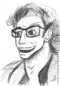 Ian Malcolm by MichaeL-Lewerissa.deviantart.com on @DeviantArt