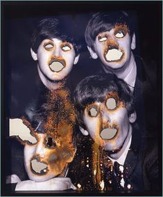 Cant stand the beatles, love this 😂 The Beatles 2007 Douglas Gordon Collages, Collage Art, Face Off, Douglas Gordon, Daphne And Velma, A Level Art, Gcse Art, Weird Art, Photomontage