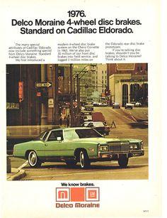 1976 Delco brake ad with Cadillac Eldorado