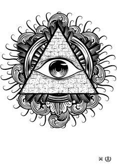 All seeing eye psychedelic trippy illuminati Tatouage Indie, Tattoo Sketches, Tattoo Drawings, Eye Drawings, Ojo Tattoo, Illuminati Tattoo, Illuminati Drawing, Illuminati Symbols, All Seeing Eye Tattoo