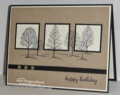 "Lovely As A Tree, Express Yourself, 1 1/4"" Square & 1 3/8"" Square punches, Neutrals Candy Dots - Paper Craft Crew Card Sketch #63"