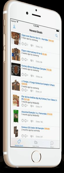 Cigar Deal: New Amazing Cigar Bargains Mobile App!