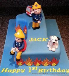 Fireman Sam cake as a first birthday cake
