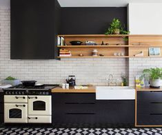 5 New Kitchen Appliance Trends Timber Kitchen, Kitchen Flooring, Kitchen Cabinets, Kitchen Appliances, Black Cabinets, Kitchen Tiles, Copper Kitchen, Kitchen Counters, Kitchen Shelves