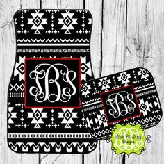 Car Mats Aztec Personalized Monogrammed Floor by LittleBitSassy, $32.00