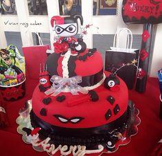 Harley Quinn cake my mom did I loved
