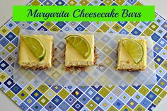 Margarita Cheesecake Bars for Margarita Day! www.hezzi-dsbooksandcooks.com