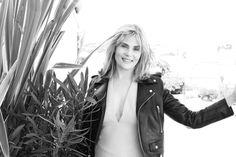 Emmanuelle Seigner, star of Roman Polanski's Venus in Fur, on the Mouton Cadet terrace