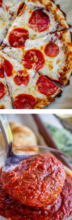 Easy No-Cook Pizza Sauce from The Food Charlatan. This is the best last minute…