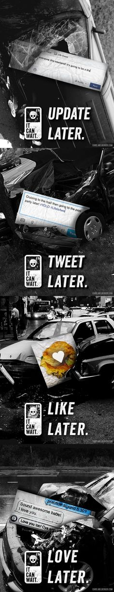 Powerful Ads against using your phone while driving
