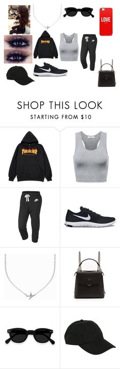 """Uh Oh!"" by aliwonder on Polyvore featuring NIKE, Minnie Grace, Fendi and Hot Topic"