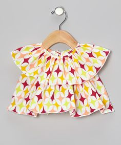 Take a look at the Magenta Diamond Tiered Peasant Top - Infant, Toddler & Girls on #zulily today!