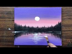 Easy Sunset Acrylic Painting for Beginners Step by Step/Sunset Acrylic Painting Ideas For Beginners Easy Canvas Art, Simple Canvas Paintings, Small Canvas Art, Easy Canvas Painting, Canvas Ideas, Diy Canvas, Canvas Painting Tutorials, Acrylic Painting For Beginners, Beginner Painting