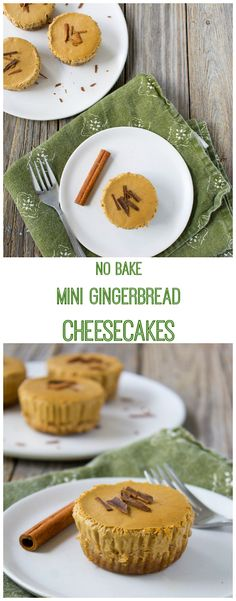 No Bake Mini Gingerbread Cheesecakes are the perfect holiday treat. Made with Greek yogurt and perfectly portioned, these cheesecakes can be enjoyed without the guilt. Plus, they're super easy to make - no oven required!