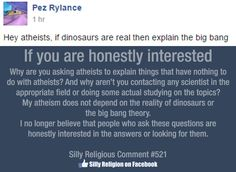 I'm an atheist, not an expert in the field of evolu-paleo-astrophysics.