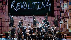 We are revolting children, living in revolting times. We sing revolting songs, using revolting rhymes. We'll be revolting children, till our revoltings done. Matilda :)