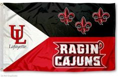 UL Lafayette Ragin Cajuns Acadian Flag and Death Valley Flag for ...