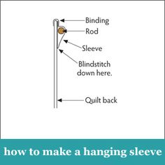 How to make a hanging sleeve