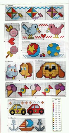 This Pin was discovered by Fat Small Cross Stitch, Cross Stitch For Kids, Cross Stitch Cards, Cross Stitch Borders, Cross Stitch Baby, Cross Stitch Designs, Cross Stitching, Cross Stitch Embroidery, Hand Embroidery