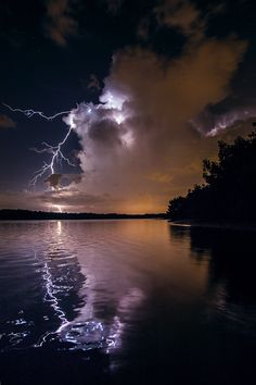 Reflection of lightning                                                                                                                                                                                 More